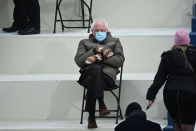'It's just Bernie being Bernie' — How a photo of Sanders wearing mittens at Inauguration Day went viral