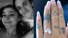 Ariana Grande Declares Engagement To Boyfriend Dalton Gomez With Stunning Diamond Ring