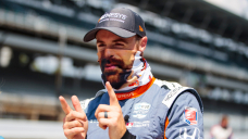 IndyCar driver James Hinchcliffe celebrates return to Andretti Autosport with perfect 'Chums' joke