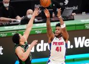 Detroit takes down the Celtics 108-102 on Saddiq Bey's career night