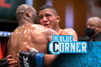 Kamaru Usman and Gilbert Burns shared an emotional embrace after their UFC 258 title fight
