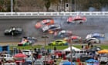 Lightning halts Nascar's Daytona 500 after huge 16-automobile pile-up
