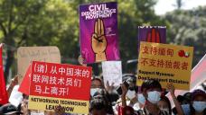 Protesters defy Myanmar junta