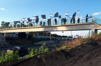 Protesters make their way to Jerusalem for week 35 of Balfour Protests