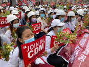 Extra protests and funeral follow deadly shootings in Myanmar