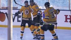 Pastrnak's 3 goals lead Bruins past Flyers 7-3 at Lake Tahoe