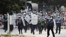 Two dead in bloody day of Myanmar protests