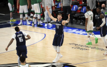 The NBA world reacts to Luka Doncic's step-attend game winner vs Boston
