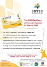 The gold SASSA card will be valid beyond 31 March 2021
