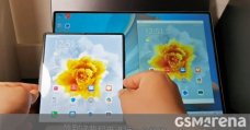 Huawei's Mate X2 shown in action with Multi-Camouflage Collaboration (PC mirroring)