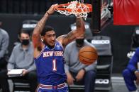 File: Knicks' Obi Toppin to participate in Slam Dunk Contest
