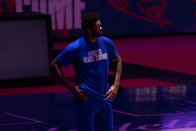 Doc Rivers, Joel Embiid give their perspective on knee injury vs. Blazers