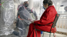 'Hug tent' provides safe embraces at Colorado elderly home