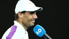 Rafael Nadal had a delighted reaction to an Australian Originate fan who inexplicably flipped him the bird