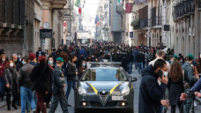 Virus protest in Dublin, cases up in Italy