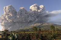 Indonesia's Mount Sinabung volcano spews ash into sky