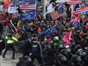 A former firefighter charged in the Capitol riot took a bus organized by Turning Point USA to DC, filing says