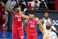 Joel Embiid, Donovan Mitchell engage in playful barbs on Twitter