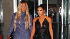 Kim Kardashian Leans On La La Anthony After Divorce: Glimpse Their Intriguing Fresh Pics In Pastel & Tie-Dye Dresses