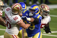 This montage of Aaron Donald bullying blockers is a joy to watch