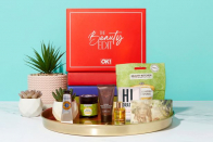 Fetch 20% of the OK! Beauty Box and look out for a £250 golden ticket beauty haul