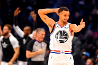 Stephen Curry now tied with a Warriors legend for most NBA All-Star starter selections in franchise history