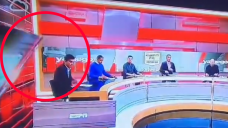 ESPN panellist caught under collapsing wall in live broadcast