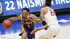 LSU upsets No. 8 Arkansas 78-71 to reach SEC tourney final