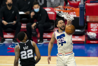 3 observations: Ben Simmons returns, Sixers rout Spurs at home