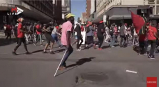 WATCH   'The enemy is looking for a reason to kill us': Braamfontein shutdown as #Witsprotest continues