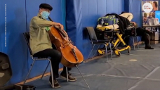 Yo-Yo Ma gave surprise performance after receiving second round of the COVID-19 vaccine