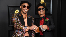 Bruno Mars And Anderson Paak Wander Into Leisure Suits For Silk Sonic Debut