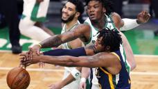 Mitchell's 21, late 3 help Jazz beat Celtics 117-109