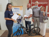 Rotary E-Club 1 collect for the abused