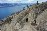 Part of Kettle Valley Rail Path near Naramata closed for rock scaling