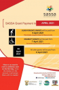 SASSA Social Grant Payments for the month of April 2021