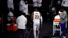 LeBron posts first message since exiting game due to injury: 'I'm hurt inside and out right now'