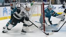 Jones helps Sharks sweep series vs Kings with 4-2 win