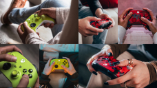 Unusual Electric Volt and Daystrike Camo Xbox Wi-fi Controllers