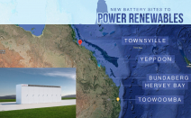 QLD's new grid-scale battery trial will store solar energy at 5 locations. If successful, will be rolled out right across the state.
