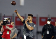 Justin Fields dazzles at Ohio State pro day