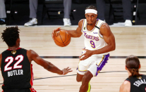 Clippers guard Rajon Rondo to come off bench Sunday vs. Lakers