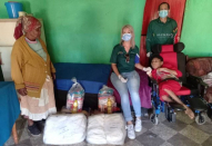 Gift of the Givers donates a wheelchair, bed, study materials and food parcels