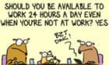 The expectation people should respond to work calls, texts and emails out of hours is ridiculous | First Dog on the Moon