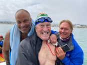 Surgeon, 80, swims into record books with Robben Island crossing