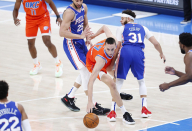 Aleksej Pokusevski out for rest of Sixers game with right arm soreness