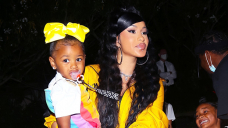 Cardi B's Daughter Kulture, 3, Attracts On Offset's $1800 Moncler Jacket With Crimson Crayon Then Dozes Off