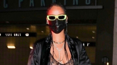 Rihanna Wears Completely Sheer Shirt With Silk Robe For Evening Out — Leer The Fierce Peek
