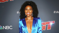 Gabrielle Union Rocks Nothing But Calvin Klein Undies & Socks In Horny At House Makeup-Free Pic
