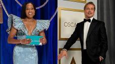 Oscars 2021 Easiest Moments: Regina King's Yarn Assign, Brad Pitt's Horny Ponytail & More